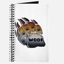 wOOF FURRY BEAR PRIDE PAW Journal