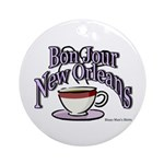 New Orleans Coffee Round Ornament