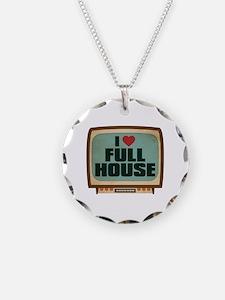 Retro I Heart Full House Necklace