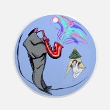 Jazz Angel Ornament (Round)