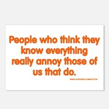 People Who Think They Know Everything... Postcards