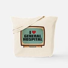 Retro I Heart General Hospital Tote Bag