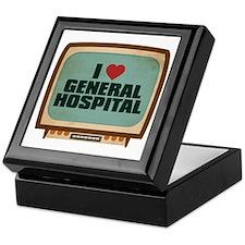 Retro I Heart General Hospital Keepsake Box