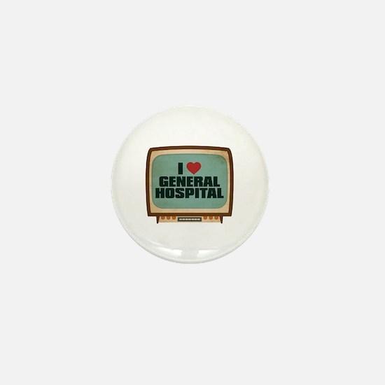 Retro I Heart General Hospital Mini Button