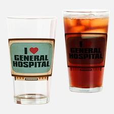 Retro I Heart General Hospital Drinking Glass