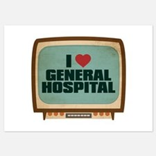 Retro I Heart General Hospital Invitations