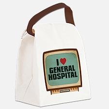 Retro I Heart General Hospital Canvas Lunch Bag