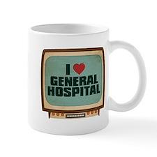 Retro I Heart General Hospital Small Mug