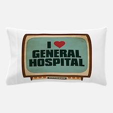 Retro I Heart General Hospital Pillow Case