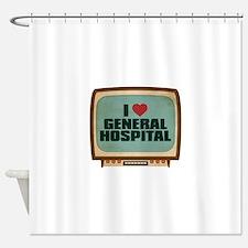 Retro I Heart General Hospital Shower Curtain
