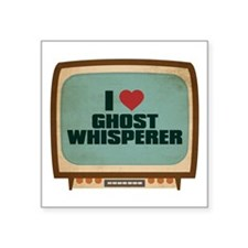 "Retro I Heart Ghost Whisperer Square Sticker 3"" x"