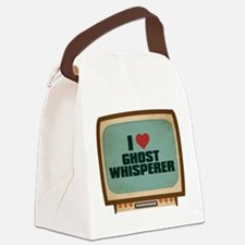 Retro I Heart Ghost Whisperer Canvas Lunch Bag