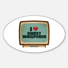 Retro I Heart Ghost Whisperer Oval Decal