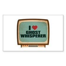 Retro I Heart Ghost Whisperer Rectangle Decal