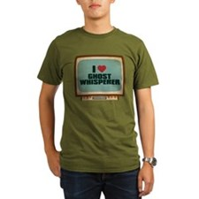 Retro I Heart Ghost Whisperer Organic Men's Dark T