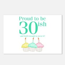 30ish Birthday Postcards (Package of 8)