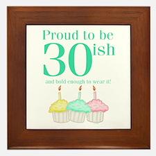 30ish Birthday Framed Tile