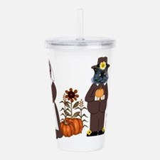 Thanksgiving Cats Acrylic Double-wall Tumbler