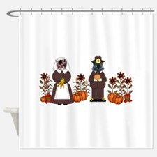 Thanksgiving Cats Shower Curtain