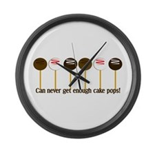 Can never get enough cake pops! Large Wall Clock