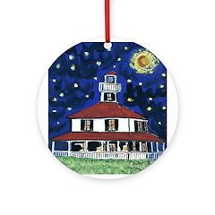 Lake Shore Lighthouse Round Ornament