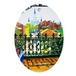 French Quarter Balcony Oval Ornament
