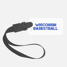 WISCONSIN basketball-cap blue Luggage Tag