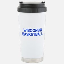 WISCONSIN basketball-cap blue Travel Mug
