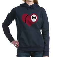 Cute Heart skull Women's Hooded Sweatshirt