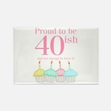 40ish Birthday Rectangle Magnet