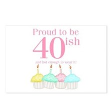 40ish Birthday Postcards (Package of 8)
