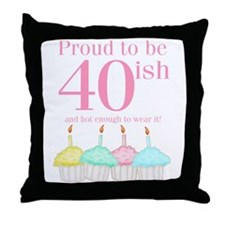 40ish Birthday Throw Pillow