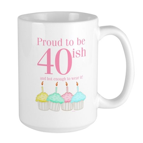 40ish Birthday Large Mug