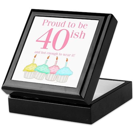 40ish Birthday Keepsake Box