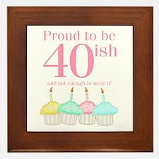 40ish Birthday Framed Tile