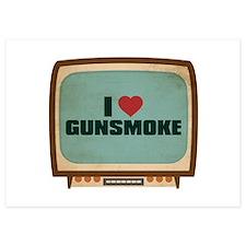Retro I Heart Gunsmoke Invitations