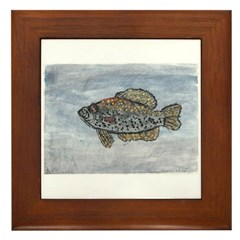 Black Crappie! Framed Tile