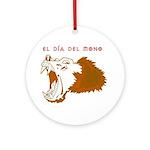 Monkey Day el mono Ornament (Round)
