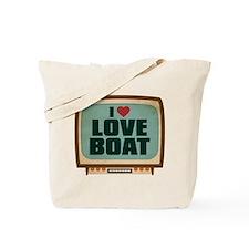 Retro I Heart Love Boat Tote Bag