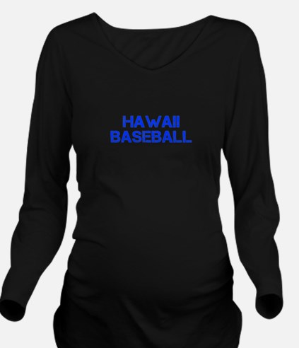 HAWAII baseball-cap blue Long Sleeve Maternity T-S