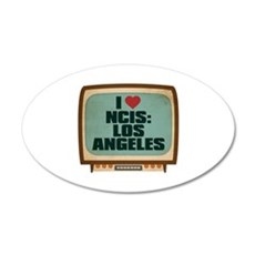 Retro I Heart NCIS: Los Angeles 22x14 Oval Wall Pe