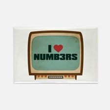 Retro I Heart Numb3rs Rectangle Magnet