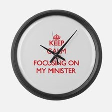 Keep Calm by focusing on My Minis Large Wall Clock