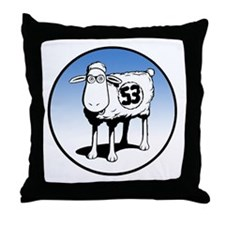 Herb the Sheep Throw Pillow