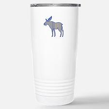 Moose Silhouette Drawing Travel Mug