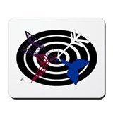 Bullseye design Mouse Pads