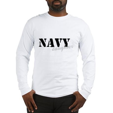 Navy Daughter Long Sleeve T-Shirt
