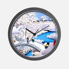 Hiroshige Drum Bridge Wall Clock