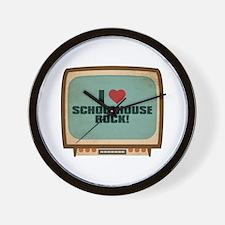 Retro I Heart Schoolhouse Rock! Wall Clock