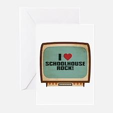 Retro I Heart Schoolhouse Rock! Greeting Cards (10